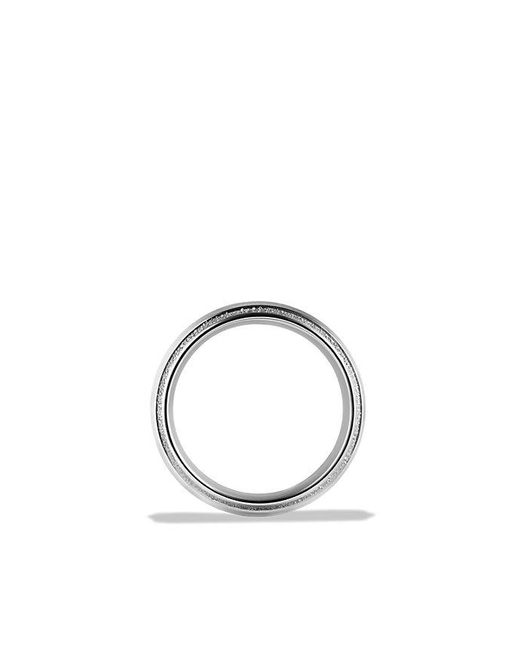 David Yurman | Metallic Knife Edge Band Ring In Platinum, 10mm for Men | Lyst