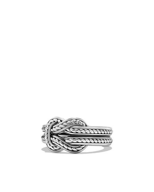 David Yurman | Metallic Maritime Reef Knot Band Ring | Lyst