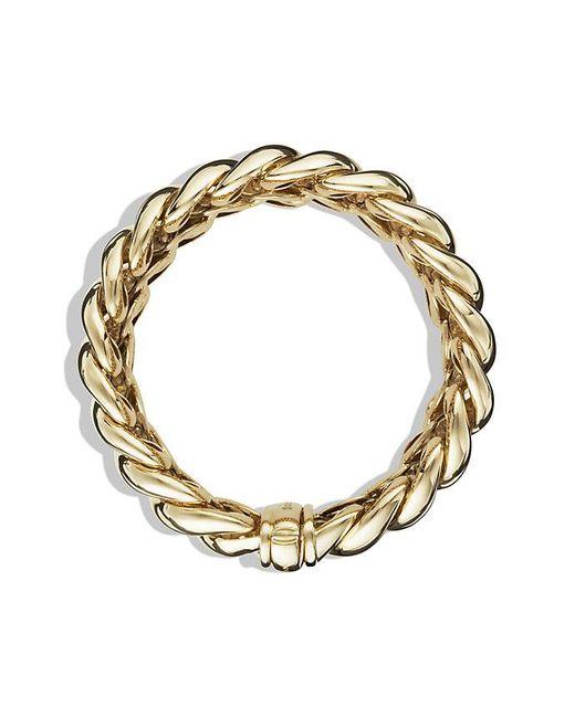 David Yurman | Metallic Hampton Cable Bracelet In 18k Gold, 19mm | Lyst