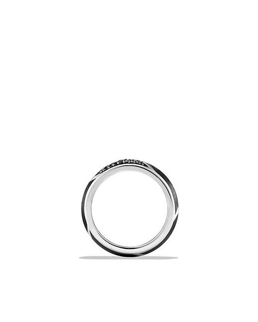 David Yurman - Metallic Forged Carbon Band Ring With Black Diamonds for Men - Lyst