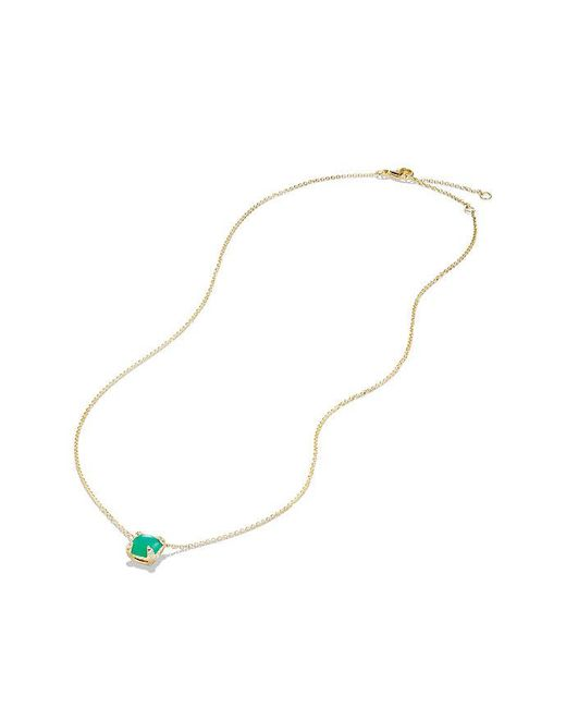 David Yurman - Multicolor Châtelaine Pendant Necklace With Chrysoprase And Diamonds In 18k Gold, 7mm - Lyst
