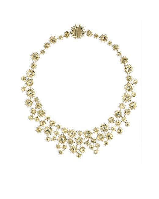 David Yurman   Metallic Starburst Mosaic Necklace With Diamonds In 18k Gold   Lyst