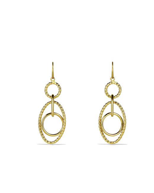 David Yurman - Metallic Mobile Small Link Earrings In 18k Gold - Lyst