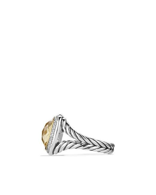 David Yurman - Metallic Albion® Ring With Champagne Citrine And Diamonds With 18k Gold - Lyst