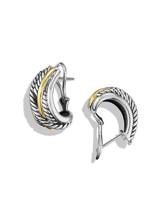 David Yurman - Metallic Crossover Earrings With 14k Gold - Lyst