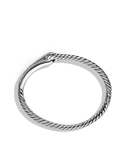 David Yurman - Metallic Labyrinth® Single-loop Bracelet With Diamonds, 10mm - Lyst