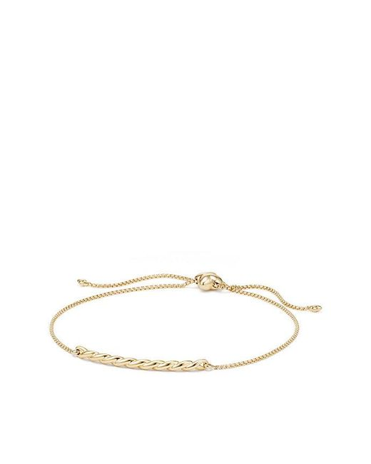David Yurman - Metallic Paveflex Station Bracelet In 18k Gold - Lyst