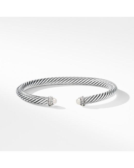 David Yurman Pearl Cable Bracelet Alert Bracelet