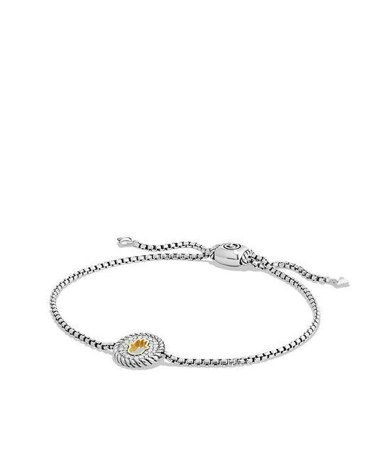 David Yurman | Metallic Cable Collectibles Hamsa Charm Bracelet With Diamonds With 18k Gold | Lyst