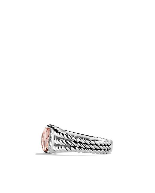 David Yurman - Metallic Petite Wheaton® Ring With Morganite And Diamonds - Lyst