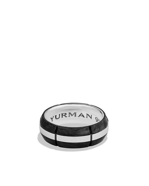 David Yurman - Black Forged Carbon Band Ring for Men - Lyst