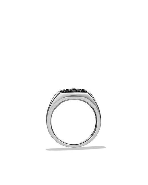 David Yurman | Pavé Pinky Ring With Black Diamonds for Men | Lyst