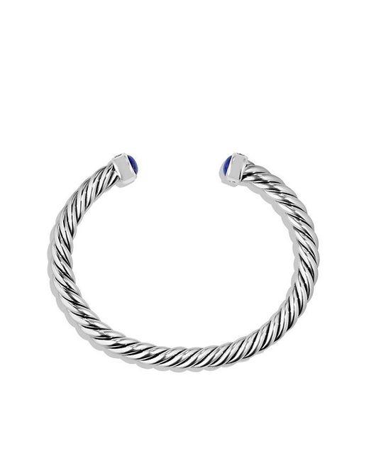 David Yurman - Blue Cable Classic Cuff Bracelet With Lapis Lazuli, 6mm - Lyst
