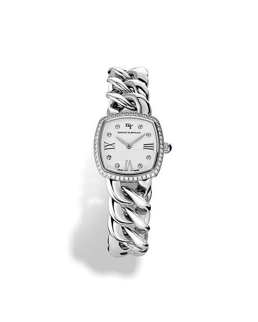 David Yurman - Metallic Albion 23mm Stainless Steel Quartz Watch With Diamonds - Lyst