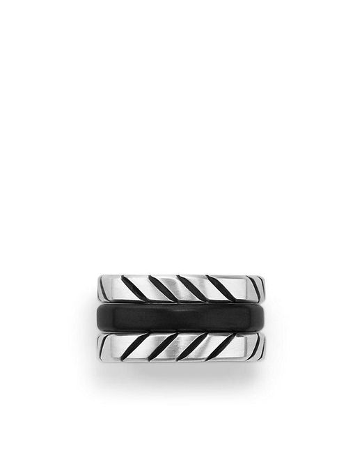 David Yurman | Multicolor Chevron Stack Ring | Lyst