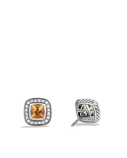 David Yurman - Metallic Petite Albion® Earrings With Citrine And Diamonds - Lyst