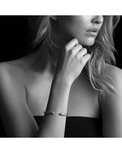 David Yurman | Metallic Cable Classics Bracelet With Diamonds, 5mm | Lyst