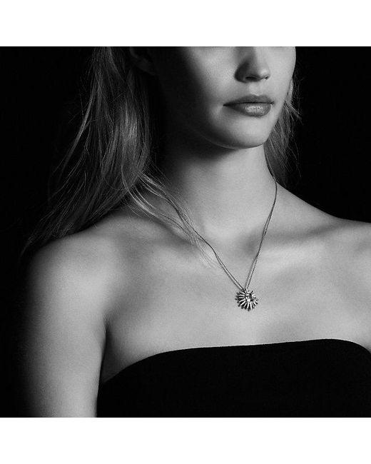 David Yurman | Metallic Starburst Pendant Necklace With Prasiolite And Diamonds, 23mm | Lyst