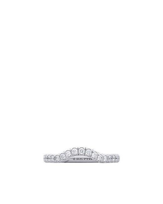 David Yurman | White Dy Capri Pavé Nesting Wedding Band In Platinum With Diamonds, 2.3mm | Lyst