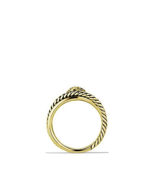 David Yurman | Metallic X Crossover Ring With Diamonds In 18k Gold | Lyst