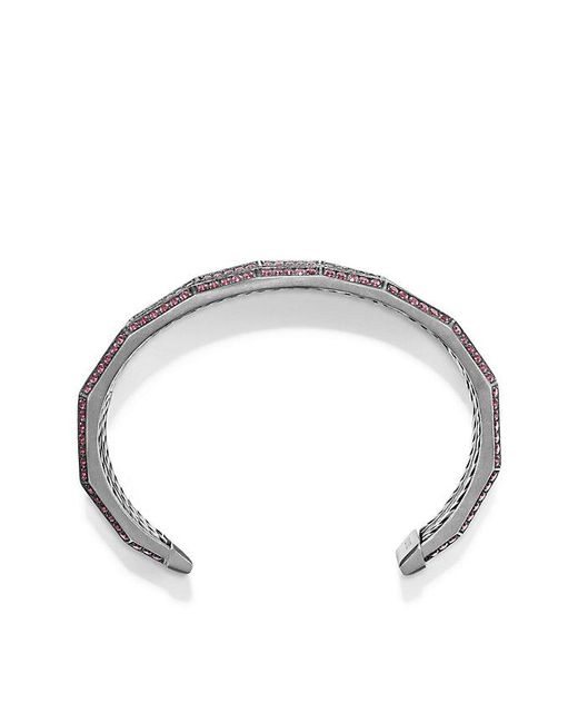 David Yurman - Red Stax Three-row Pave Bracelet With Ruby And Diamonds, 22mm - Lyst