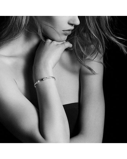 David Yurman | Metallic Helena End Station Bracelet With Pearls, Diamonds And 18k Gold, 4mm | Lyst