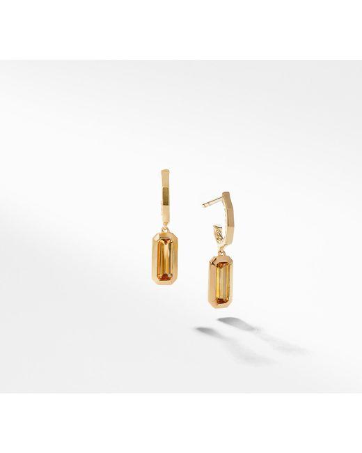 David Yurman - Metallic Novella Hoop Earrings In Citrine - Lyst