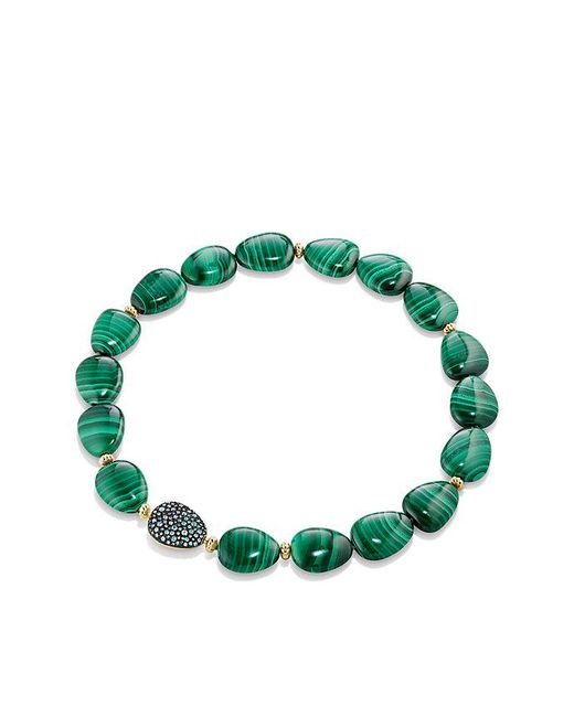 David Yurman | Green Delta Bead Necklace With Malachite, Color Change Garnet, Gray Sapphire And 18k Gold | Lyst