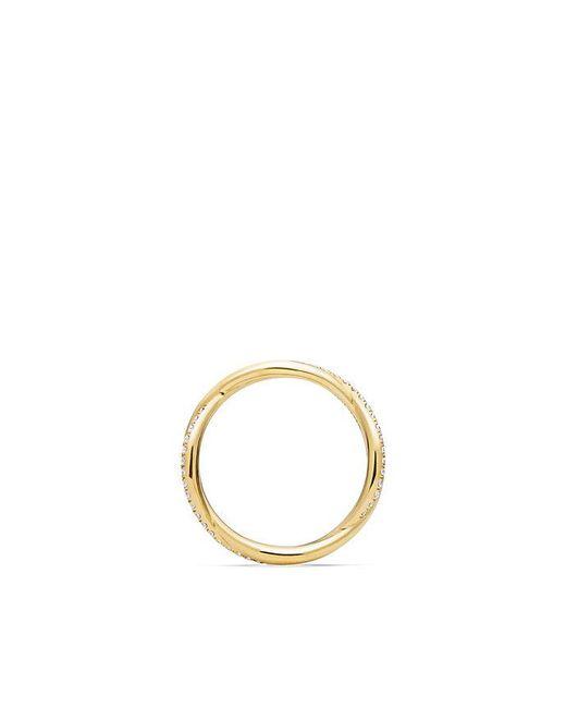 David Yurman | Metallic Dy Lanai Pavé Wedding Band With Diamonds In 18k Gold | Lyst