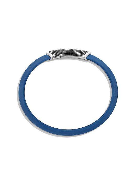 David Yurman   Waves Rubber Id Bracelet In Blue   Lyst