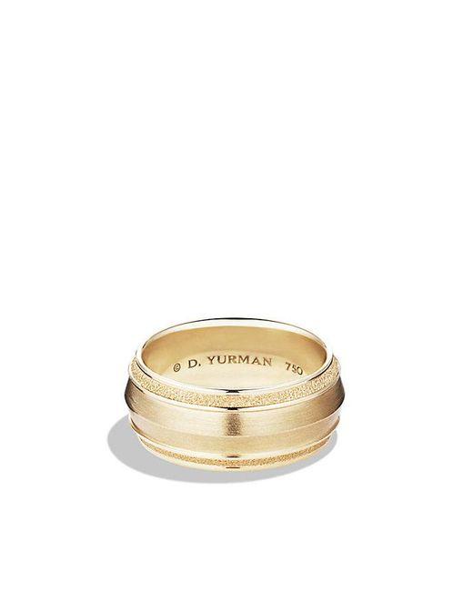 David Yurman | Metallic Knife Edge Band Ring In 18k Gold, 10mm for Men | Lyst