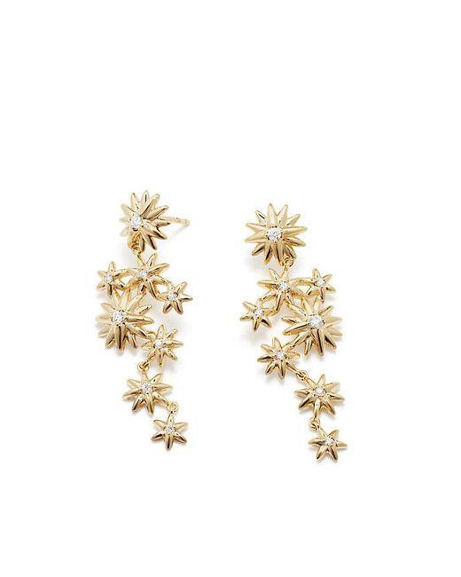 David Yurman - Metallic Starburst Constellation Drop Earrings In 18k Gold With Diamonds - Lyst