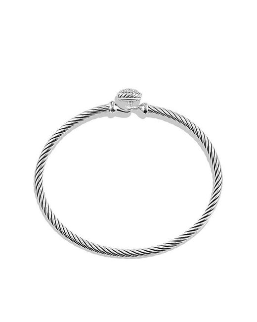 David Yurman - Metallic Petite Pave Bracelet With Diamonds - Lyst