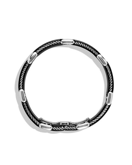 David Yurman | Black Streamline Link Bracelet for Men | Lyst