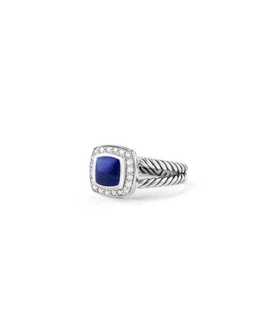 David Yurman - Blue Petite Albion® Ring With Lapis Lazuli And Diamonds - Lyst