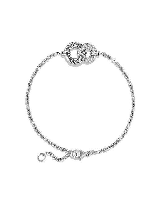 David Yurman - Belmont Curb Link Pendant Bracelet With Diamonds In 18k White Gold - Lyst
