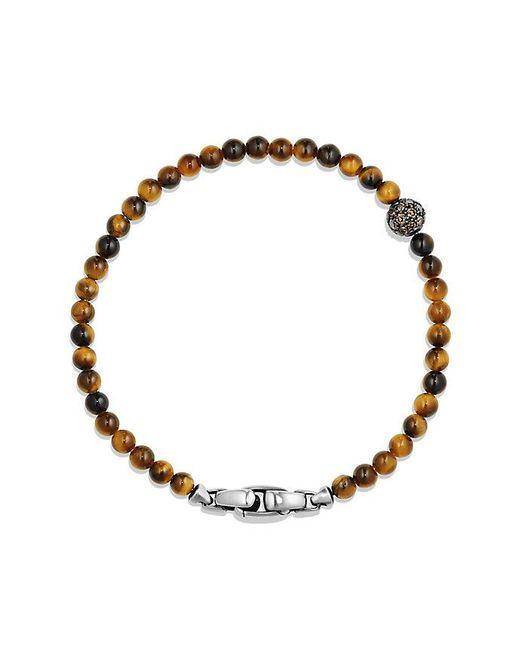 David Yurman | Metallic Spiritual Beads Cross Bracelet With Tiger's Eye In Sterling Silver | Lyst