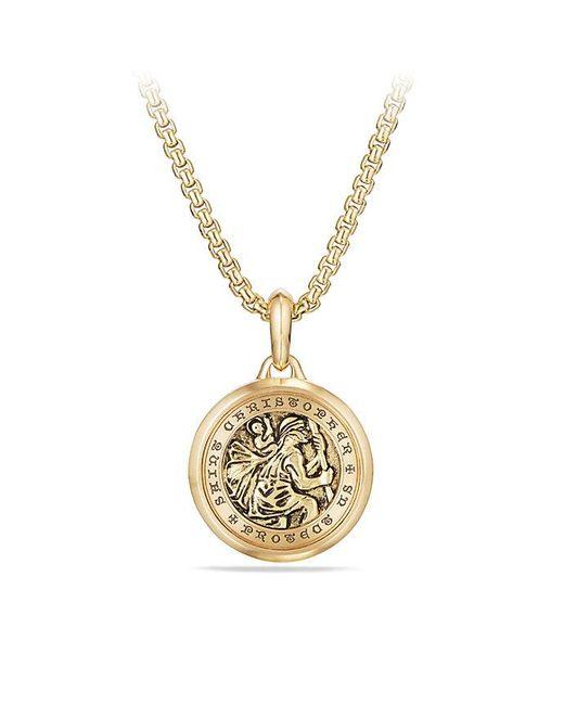 David Yurman | Metallic St. Christopher Amulet In 18k Gold | Lyst