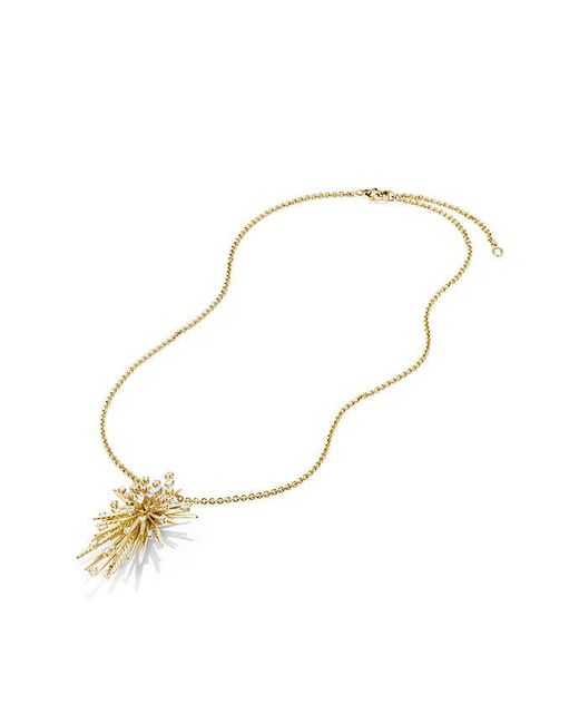 David Yurman - Metallic Supernova Pendant Necklace With Diamonds In 18k Gold - Lyst