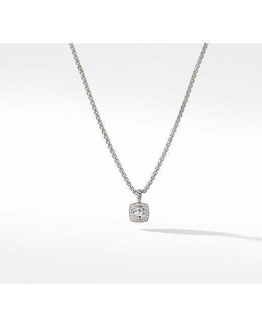 David Yurman - Petite Albion® Pendant Necklace With White Topaz And Diamonds - Lyst