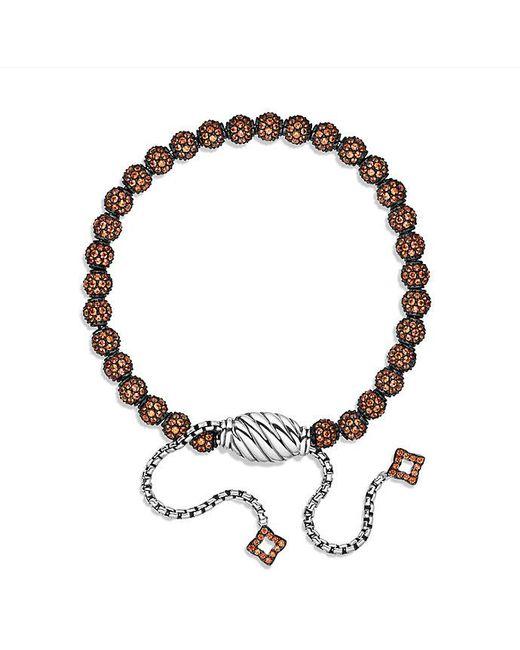 David Yurman | Petite Pavé Bracelet With Orange Sapphire | Lyst