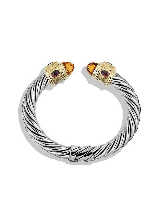 David Yurman | Metallic Renaissance Bracelet With Citrine, Iolite, And 14k Gold, 10mm | Lyst