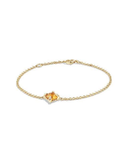 David Yurman - Metallic Chatelaine Bracelet With Citrine And Diamonds In 18k Gold - Lyst