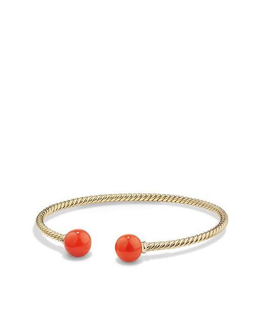 David Yurman | Multicolor Solari Bead Bracelet With Carnelian In 18k Gold | Lyst