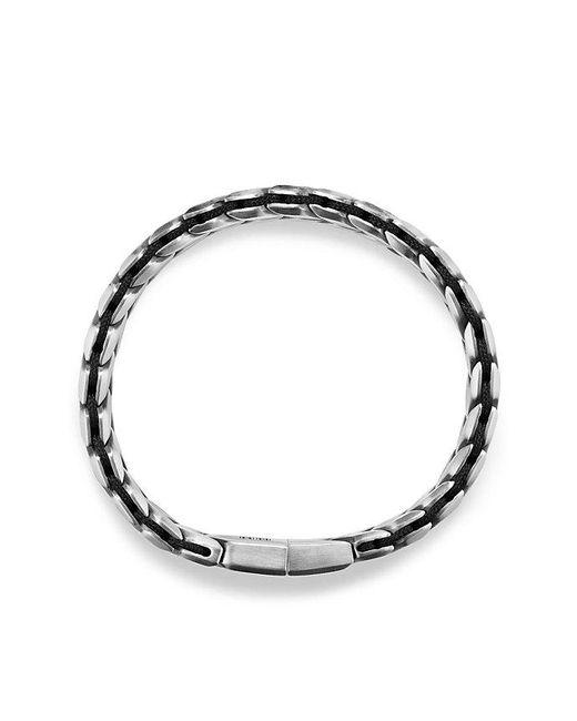David Yurman | Chevron Woven Bracelet With Black Diamonds, 12mm for Men | Lyst