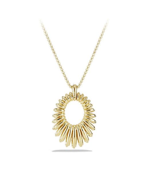 David Yurman - Metallic Tempo Pendant Necklace With Diamonds In 18k Gold - Lyst