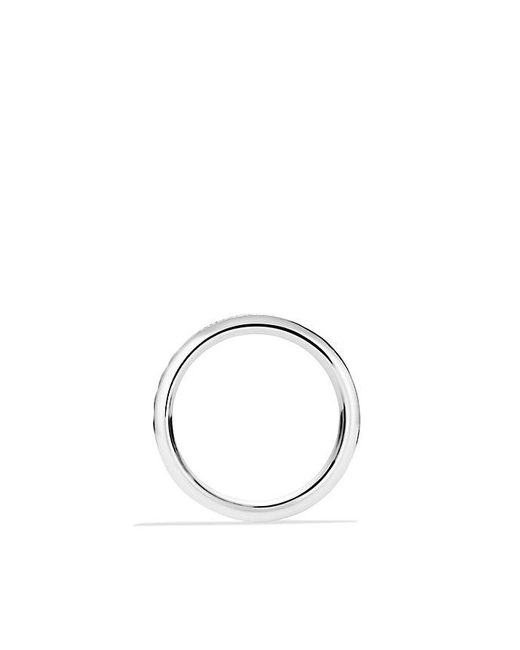 David Yurman | Metallic Chevron Pavé Band Ring With Diamonds for Men | Lyst
