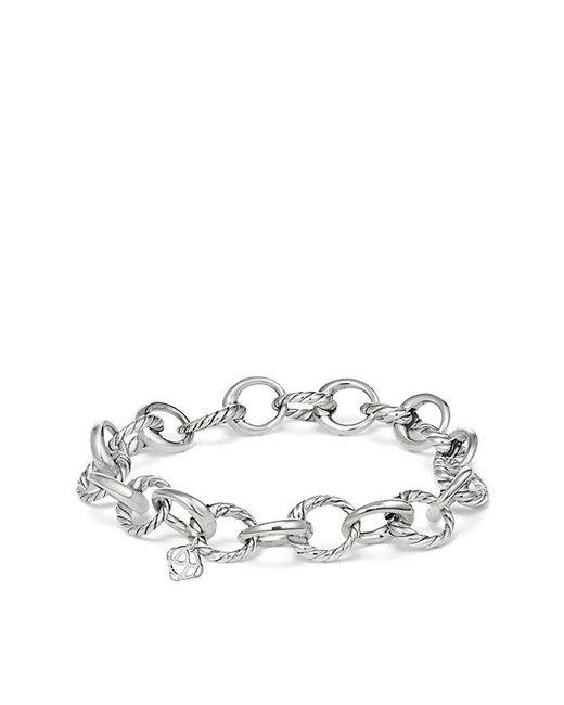 David Yurman - Metallic Cable Collectibles Oval Link Charm Bracelet - Lyst