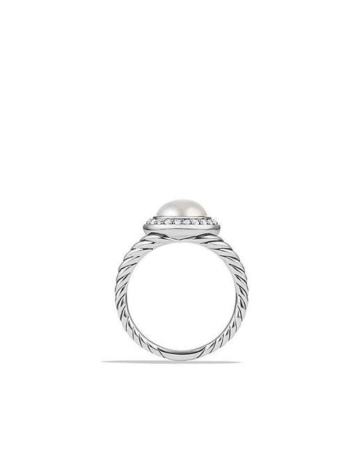 David Yurman   Metallic Pearl Ring With Diamonds   Lyst