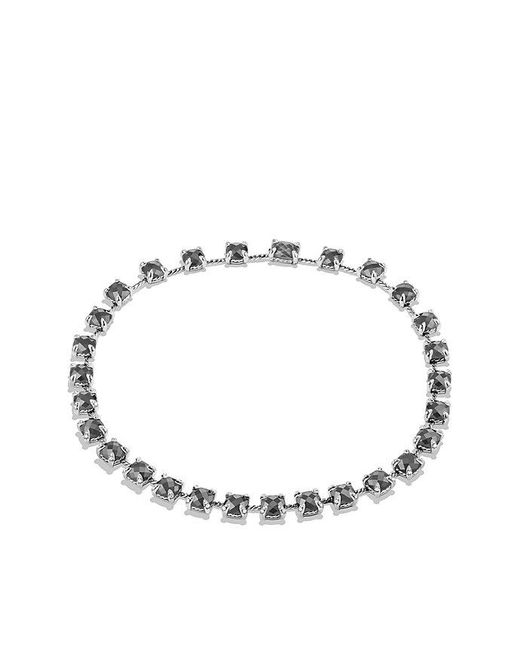 David Yurman - Metallic Châtelaine Necklace With Hematine And Diamonds - Lyst